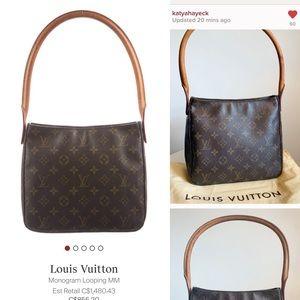 Louis Vuitton Bags - LAST PRICE Louis Vuitton Looping MM bag + dustbag